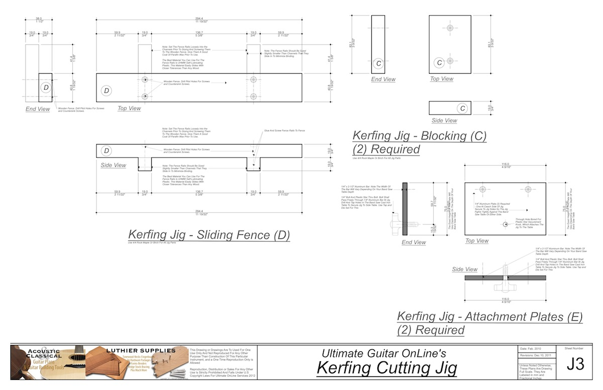 Guitar Building Tools and Jigs